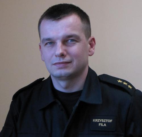 Zdjęcie rzecznik prasowy KP PSP Parczew - kpt. Fila Krzysztof