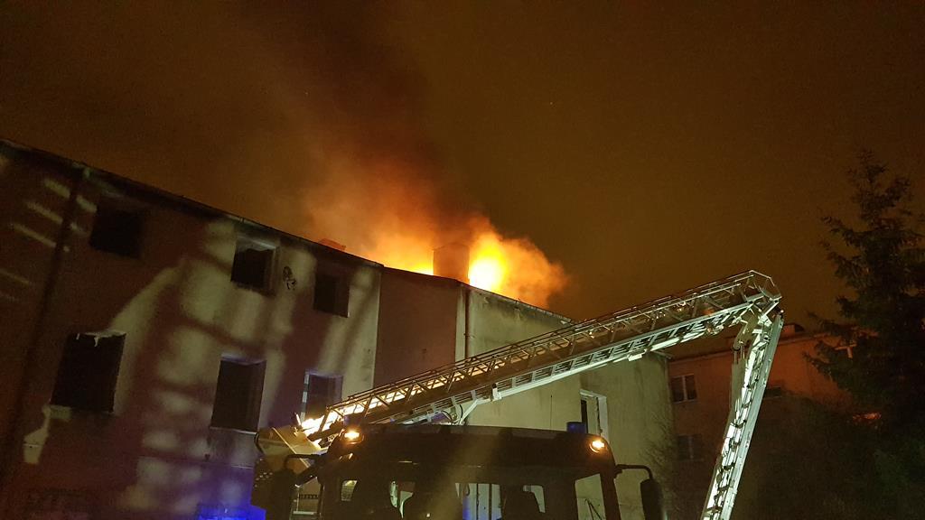 mt_gallery: Pożar pustostanu przy ul. Czwartek w Lublinie